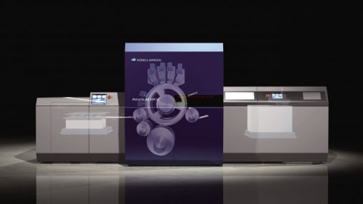 Konica Minolta has announced the AccurioJet KM-1e LED-UV inkjet production press.