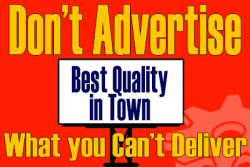 Don't Advertise What You Can't Deliver - Systems