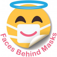 Faces Behind Masks is providing medical teams with personalized stickers.