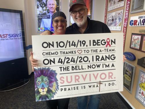 Fastsigns helping cancer survivor