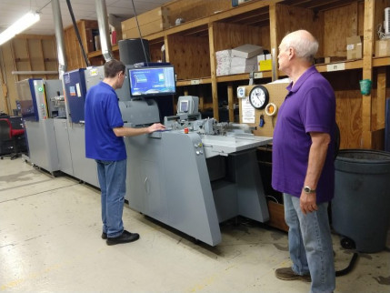 Konica Minolta's MGI JETvarnish 3D One is up and running at Kester Imaging in Arkansas City, Kan.