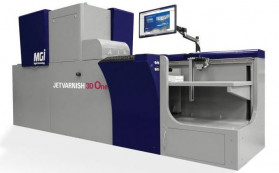 Konica Minolta announced the first installation of its MGI JETvarnish 3D One, a digital embellishment press introduced at PRINTING United in October, 2019.