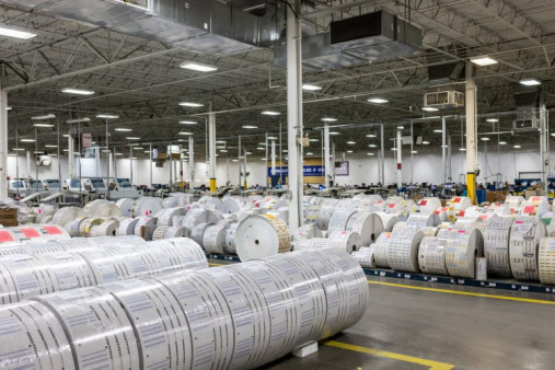 Moore Group prints and mails billions of pieces annually from multiple production sites, including the lettershop of its ResourceOne plant in Tulsa, Okla., shown above.