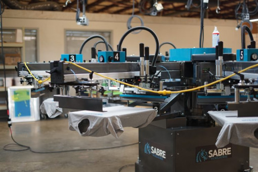 T-shirt printing is one segment that Artcraft is betting on, using the current downtime to upgrade to high-speed, automatic, state-of-the-art equipment.