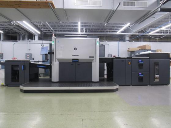New HP Indigo 12000 HD Digital Press at YGS headquarters.