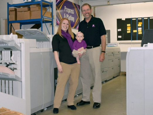 The next generation of the Plum Grove Inc Family, Peter with daughter, Kara, and granddaughter, Jadyn.