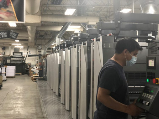 While Advertisers Printing has expanded into markets such as wide-format and digital printing, offset continues to be a powerhouse technology for the shop.