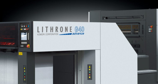 """The Komori Advance line features enhanced automation powered by Komori's KP-Connect Pro workflow system to allow for virtually """"lights-out"""" production."""