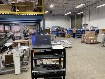 At All Color Printers, a static control bar has been installed to control misfeeds in finishing.