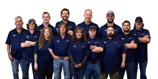 The entire team at WPI, which Williams Printing Builds New Facility Around Full Fleet of Heidelberg Products.