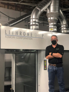 An eight-color Komori Lithrone G40 perfecting press with LED was installed at Capital Printing.