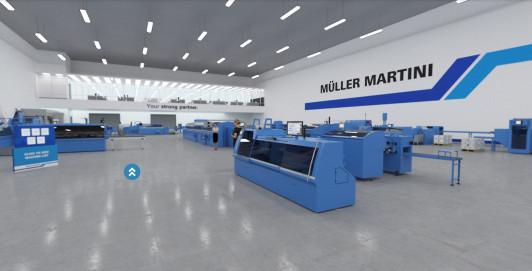 Muller Martini's virtual showroom.