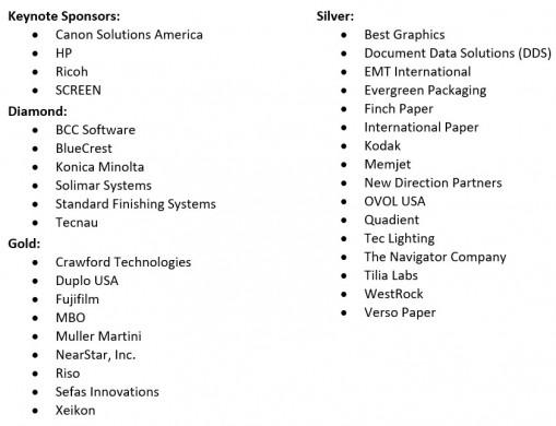 inkjet summit sponsors