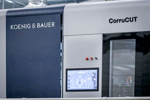 The Koenig & Bauer CorruCUT has been designed for the high-performance rotary production of die-cut corrugated products in ultimate flexo post-printing quality