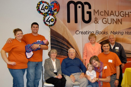 The McNaughton family is pictured together at McNaughton & Gunn's 40th corporate anniversary celebration.