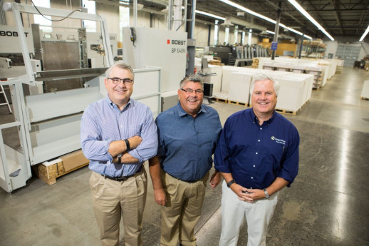 From the left, brothers and co-owners Stephen, Joe, and John Zenger stand together at Zenger Group's Tonawanda, N.Y., primary plant and headquarters.