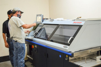 Kessler Creative installed a Standard Horizon BQ-280PUR Perfect Binder .