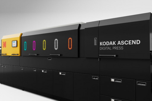 The Kodak ASCEND digital press will be available in 2022.