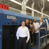The team at D'Andrea Visual Communications is excited about its new KBA Rapida 106 press. From, left to right: David Schiller, founder, VP of business development; Carson Ladd, VP of operations; Lety Villegas, controller; Gary Reyes, litho division manager; and David D'Andrea, founder and CEO.