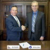 From the left, John Wurtsbaugh, president of United Graphics, and Michael Kingery, president of Kingery Printing .