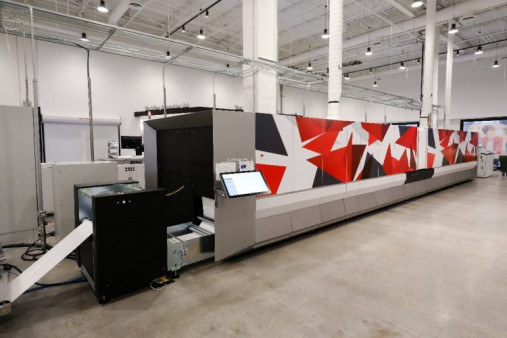 Showcased in the CIC is the Canon ProStream 1000 inkjet press.