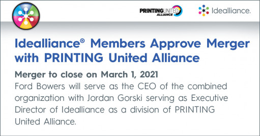 Printing united alliance and idealliance merge
