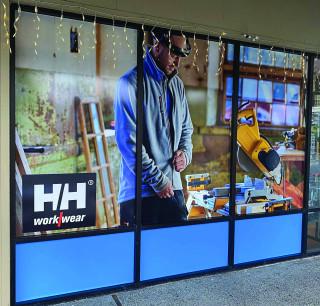 Window displays can create striking visual branding elements.
