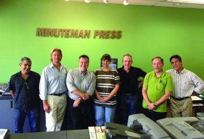 The staff at Minuteman Press of Norwalk includes Sydney Cardoza, Greg Duffey, Joe Brenneis, Marsha Mones, Bruce Pancoast, Rich Pancoast and Mike Turner.