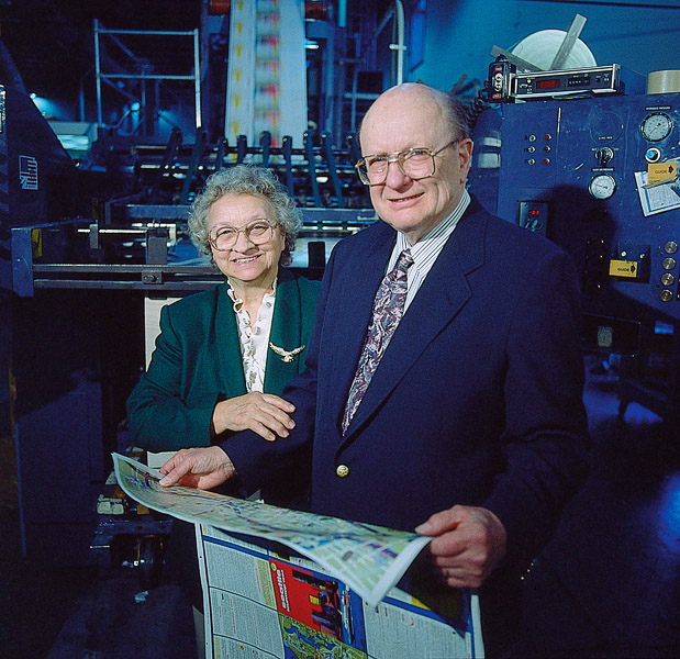 Owners Bernice and Ray Scholler led Times Printing for decades.
